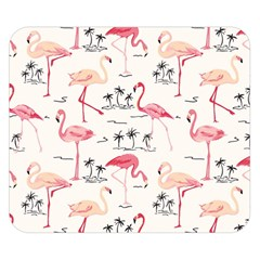 Flamingo Pattern Double Sided Flano Blanket (Small)
