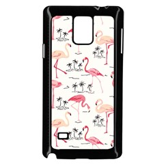 Flamingo Pattern Samsung Galaxy Note 4 Case (black) by Contest580383