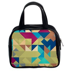 Scattered Pieces In Retro Colors Classic Handbag (two Sides) by LalyLauraFLM