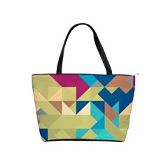 Scattered Pieces In Retro Colors Classic Shoulder Handbag by LalyLauraFLM