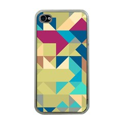 Scattered Pieces In Retro Colors Apple Iphone 4 Case (clear) by LalyLauraFLM