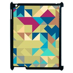 Scattered Pieces In Retro Colors Apple Ipad 2 Case (black) by LalyLauraFLM