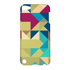 Scattered Pieces In Retro Colors Apple Ipod Touch 5 Hardshell Case by LalyLauraFLM