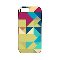 Scattered Pieces In Retro Colors Apple Iphone 5 Classic Hardshell Case (pc+silicone) by LalyLauraFLM