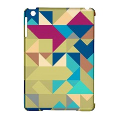 Scattered Pieces In Retro Colors Apple Ipad Mini Hardshell Case (compatible With Smart Cover) by LalyLauraFLM
