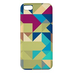 Scattered Pieces In Retro Colors Apple Iphone 5 Premium Hardshell Case by LalyLauraFLM