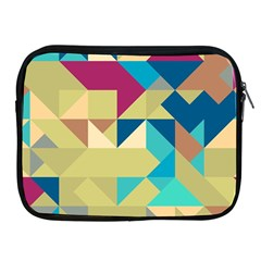 Scattered Pieces In Retro Colors Apple Ipad 2/3/4 Zipper Case by LalyLauraFLM