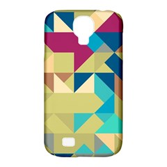 Scattered Pieces In Retro Colors Samsung Galaxy S4 Classic Hardshell Case (pc+silicone) by LalyLauraFLM