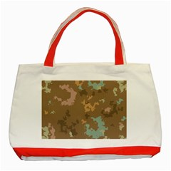 Paint Strokes In Retro Colors Classic Tote Bag (red) by LalyLauraFLM