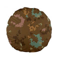 Paint Strokes In Retro Colors Standard 15  Premium Round Cushion  by LalyLauraFLM