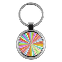 Colorful Beams Key Chain (round) by LalyLauraFLM