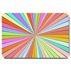 Colorful Beams Large Doormat by LalyLauraFLM