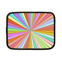 Colorful Beams Netbook Case (small) by LalyLauraFLM