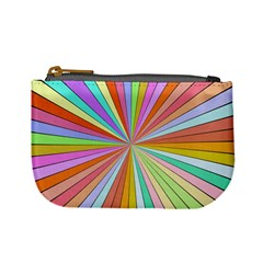 Colorful Beams Mini Coin Purse by LalyLauraFLM