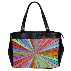 Colorful Beams Oversize Office Handbag by LalyLauraFLM