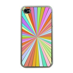 Colorful Beams Apple Iphone 4 Case (clear) by LalyLauraFLM
