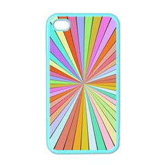 Colorful Beams Apple Iphone 4 Case (color) by LalyLauraFLM