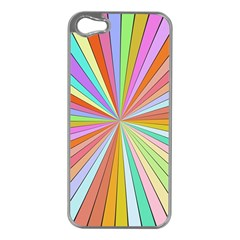 Colorful Beams Apple Iphone 5 Case (silver) by LalyLauraFLM