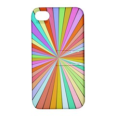 Colorful Beams Apple Iphone 4/4s Hardshell Case With Stand by LalyLauraFLM