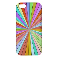 Colorful Beams Apple Iphone 5 Premium Hardshell Case by LalyLauraFLM