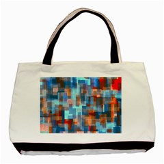Blue Orange Watercolors Basic Tote Bag (two Sides) by LalyLauraFLM