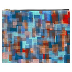 Blue Orange Watercolors Cosmetic Bag (xxxl) by LalyLauraFLM