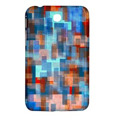 Blue Orange Watercolors Samsung Galaxy Tab 3 (7 ) P3200 Hardshell Case  by LalyLauraFLM