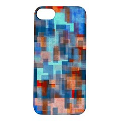 Blue Orange Watercolors Apple Iphone 5s Hardshell Case by LalyLauraFLM