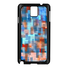 Blue Orange Watercolors Samsung Galaxy Note 3 N9005 Case (black) by LalyLauraFLM