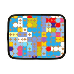 Circles And Rhombus Pattern Netbook Case (small) by LalyLauraFLM