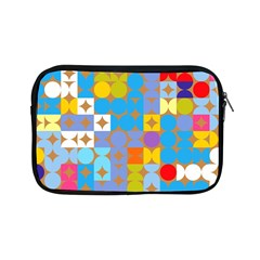 Circles And Rhombus Pattern Apple Ipad Mini Zipper Case by LalyLauraFLM