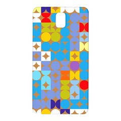 Circles And Rhombus Pattern Samsung Galaxy Note 3 N9005 Hardshell Back Case by LalyLauraFLM