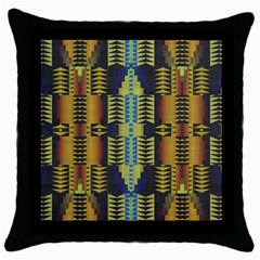 Triangles And Other Shapes Pattern Throw Pillow Case (black) by LalyLauraFLM