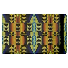 Triangles And Other Shapes Pattern Apple Ipad 2 Flip Case by LalyLauraFLM