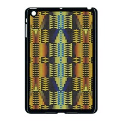 Triangles And Other Shapes Pattern Apple Ipad Mini Case (black) by LalyLauraFLM