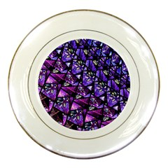 Blue Purple Shattered Glass Porcelain Plates by KirstenStar