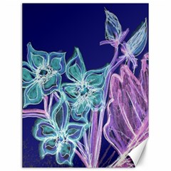 Purple, Pink Aqua Flower Style Canvas 12  X 16   by Rokinart