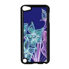 Purple, Pink Aqua Flower Style Apple Ipod Touch 5 Case (black)