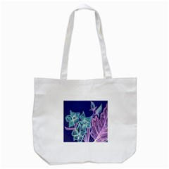 Purple, Pink Aqua Flower Style Tote Bag (white)  by Contest1918526