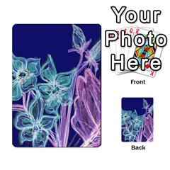 Purple, Pink Aqua Flower Style Multi Purpose Cards (rectangle)  by Contest1918526