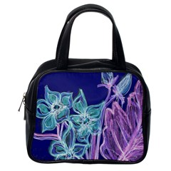 Purple, Pink Aqua Flower Style Classic Handbags (one Side) by Contest1918526