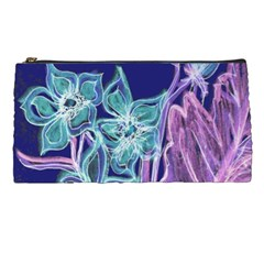 Purple, Pink Aqua Flower Style Pencil Cases by Contest1918526