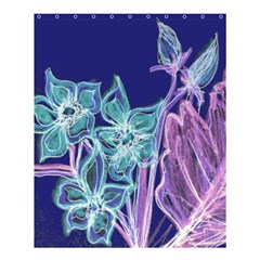 Purple, Pink Aqua Flower Style Shower Curtain 60  X 72  (medium)  by Contest1918526