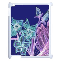 Purple, Pink Aqua Flower Style Apple Ipad 2 Case (white) by Contest1918526