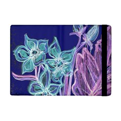 Purple, Pink Aqua Flower Style Apple Ipad Mini Flip Case by Contest1918526