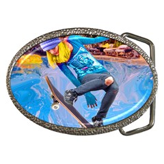 Skateboarding On Water Belt Buckles by icarusismartdesigns