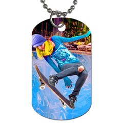 Skateboarding On Water Dog Tag (two Sides) by icarusismartdesigns