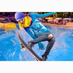 Skateboarding On Water Collage 12  X 18  by icarusismartdesigns