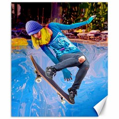 Skateboarding On Water Canvas 8  X 10  by icarusismartdesigns