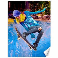 Skateboarding On Water Canvas 36  X 48   by icarusismartdesigns